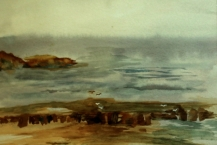 145-Jean-Willmott--'BAMBURGH-COASTLINE'