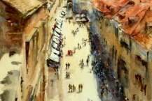 32-Sandra-Gould--'DUBROVNIK-OLD-TOWN'---Watercolour