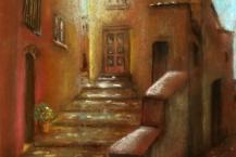 39-Patricia-Hawkins--'STREET-STEPS-AT-DUSK'